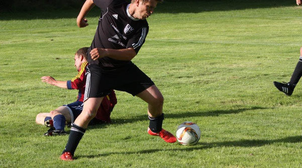 Markus Burzlaff im Kreispokalspiel gegen SV Kickers Hennstedt